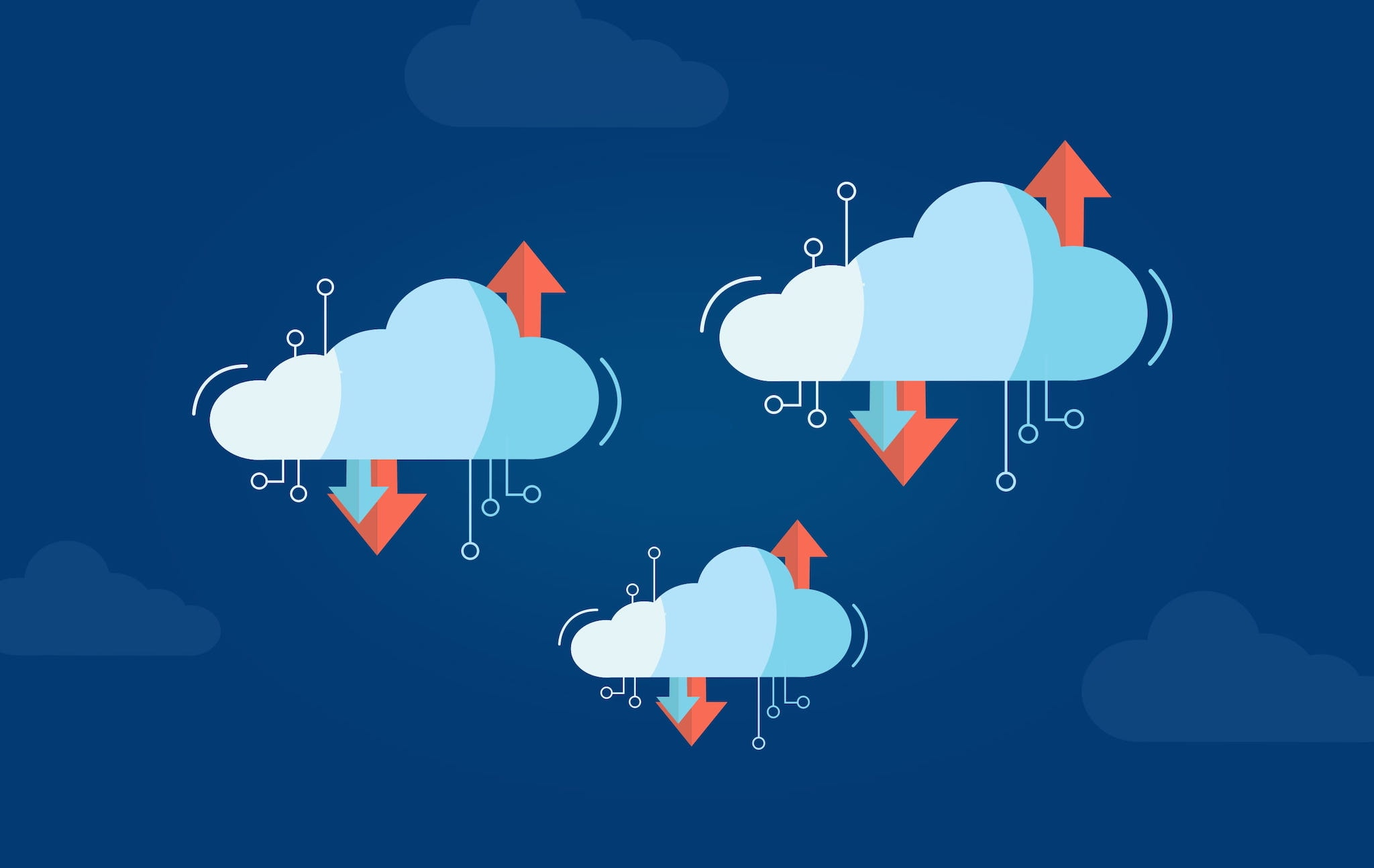 Virtual Cloud Concept with Multiple Clouds